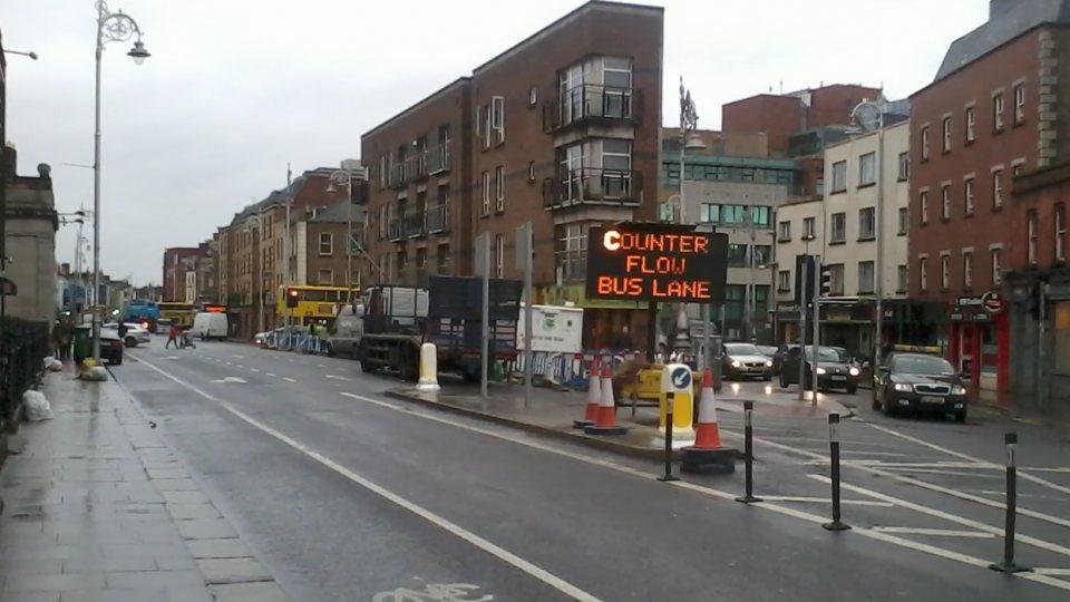 Bleeding Horse Contra Flow Bus Cycle Lane Dublin Cycling