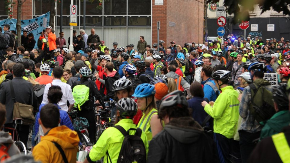 Cycle Protest Crowd