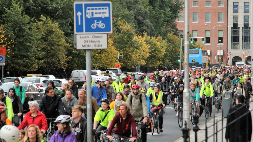 cyclists protest