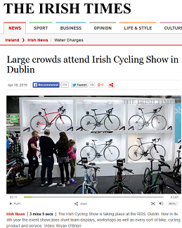 Large crowds attend irish cycling show in dublin dublin cycling campaign - Irish times office dublin ...